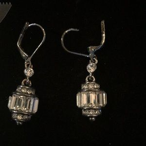 Jewelry - Silver and crystal earrings